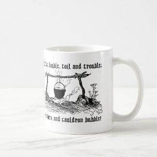 火の焼跡の大がまの泡、シェークスピアのマグ コーヒーマグカップ