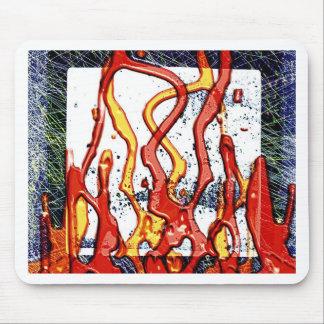 火の焼跡の煙の抽象芸術の金属の錆ついた旧式ながらくた マウスパッド