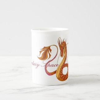 火の珊瑚のドラゴン ボーンチャイナカップ