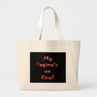 火の私の膣! ラージトートバッグ