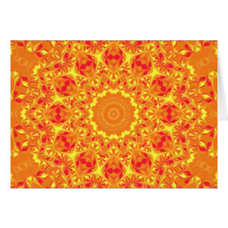 火の花の万華鏡のように千変万化するパターン カード