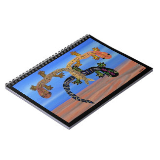 火の螺線形ノートの谷のヤモリ ノートブック