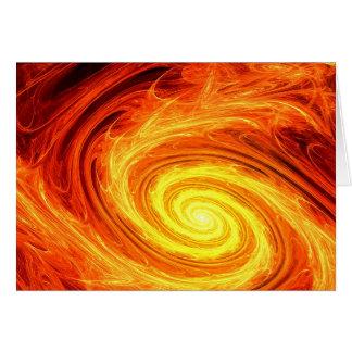 火の螺線形 グリーティングカード