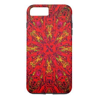 火の要素のKaleidoパターン iPhone 8 Plus/7 Plusケース