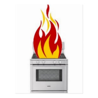 火の調理 ポストカード