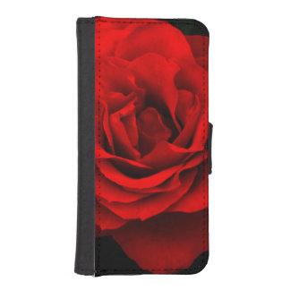 火の赤いバラのiPhone 5/5sのウォレットケース iPhoneSE/5/5sウォレットケース