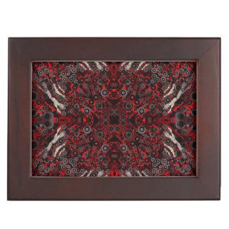 火の赤く黒いシマウマの抽象芸術 ジュエリーボックス