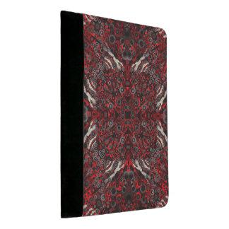 火の赤く黒いシマウマの抽象芸術 パッドフォリオ