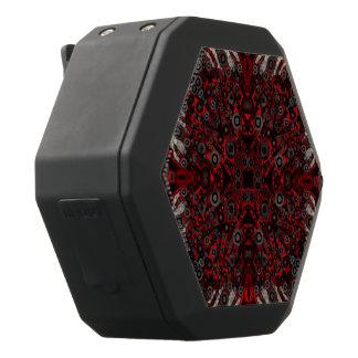 火の赤く黒いシマウマの抽象芸術 ブラックBluetoothスピーカー