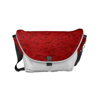 火の赤レンガ色のコルクの一見木穀物 スモールメッセンジャーバッグ