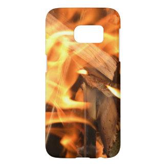 火の電話カバー SAMSUNG GALAXY S7 ケース