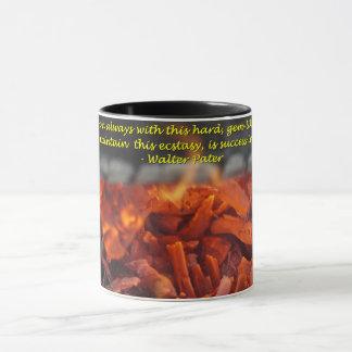 火の非常に熱いマグ マグカップ