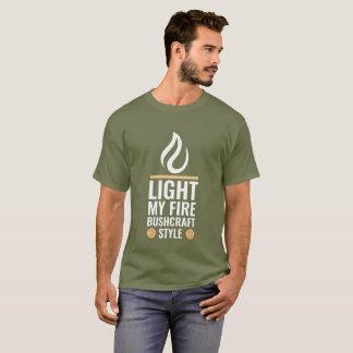 火のBushcraftの私のスタイルをつけて下さい Tシャツ