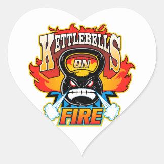 火のKettlebells ハートシール