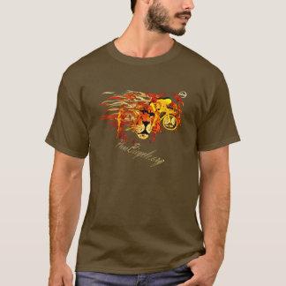 火のPlanoテキサス州の循環のライオンのように循環させて下さい Tシャツ