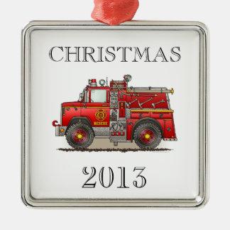 火のPumperの救助のトラック メタルオーナメント