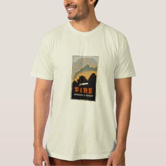 火は森林を破壊します Tシャツ