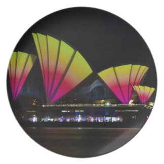 火は-シドニーの鮮やかなフェスティバル-シドニーオペラを航海します プレート