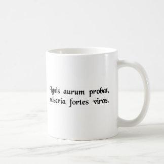 火テスト金ゴールド; 災難は強い人をテストします コーヒーマグカップ