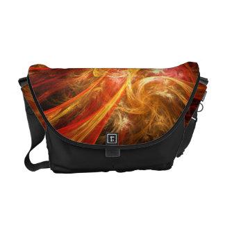 火事場風の新星の抽象美術のメッセンジャーバッグ メッセンジャーバッグ
