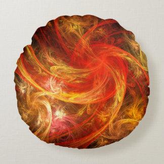火事場風の新星の抽象美術の円形の枕 ラウンドクッション