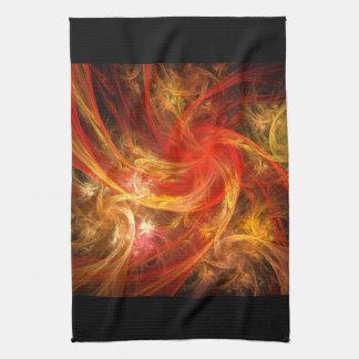 火事場風の新星の抽象美術の台所タオル キッチンタオル