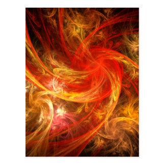 火事場風の新星の抽象美術の郵便はがき ポストカード