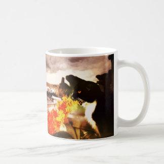 火呼吸猫のドラゴンのマグ コーヒーマグカップ