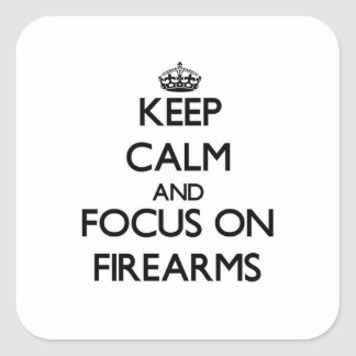 火器の平静そして焦点を保って下さい スクエアシール