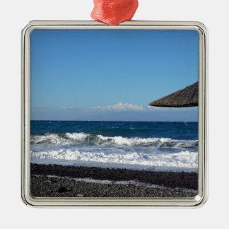 火山ビーチ メタルオーナメント
