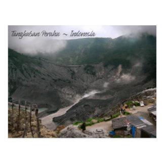 火山噴火口インドネシア ポストカード