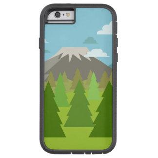 火山山の下の松の木の森林 TOUGH XTREME iPhone 6 ケース