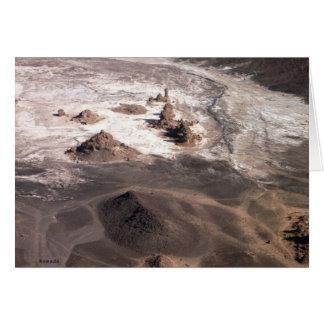 火山景色および塩 カード