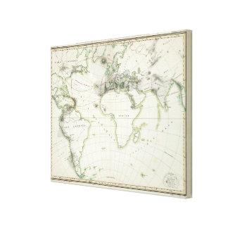 火山活動の地図 キャンバスプリント