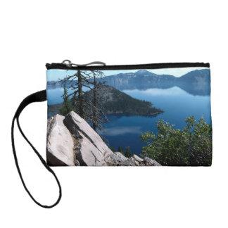 火山深く青いcrater湖オレゴン米国 コインパース