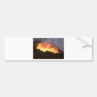 火山火の白熱 バンパーステッカー