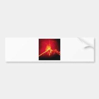 火山熱い溶岩1991年のコスタリカ バンパーステッカー