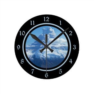 火山爆発アイスランド ラウンド壁時計