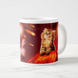 火山猫、vulcan猫、 ジャンボコーヒーマグカップ