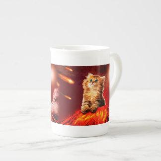 火山猫、vulcan猫、 ボーンチャイナカップ