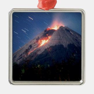 火山自然な驚異 メタルオーナメント