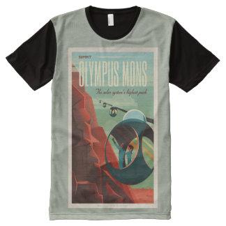 火星で旅行するGo オールオーバープリントT シャツ