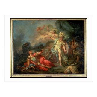 火星とMinerva 1771年間の戦い(cの油 ポストカード