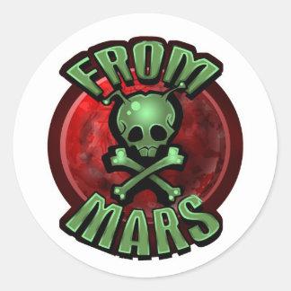 火星のステッカーから ラウンドシール