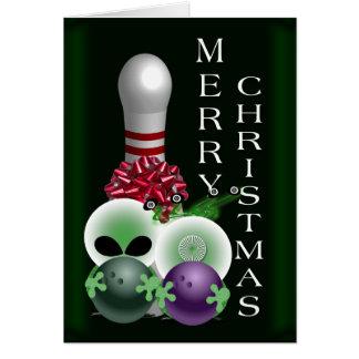 火星のボーリングのクリスマス カード