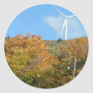 火星の丘山メインの秋の風車 ラウンドシール