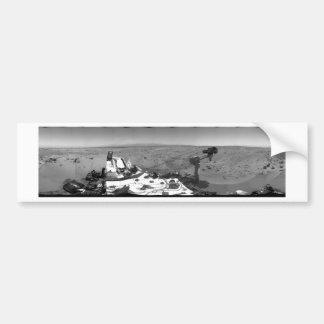 火星の全景 バンパーステッカー