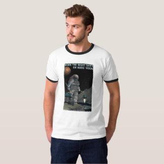 火星の募集-夜勤のTシャツ Tシャツ