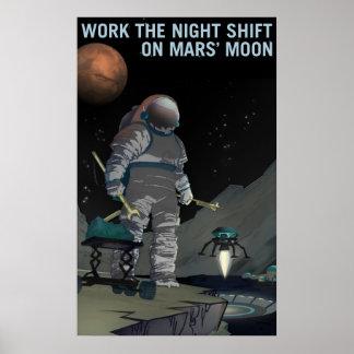 火星の募集-夜勤ポスター ポスター
