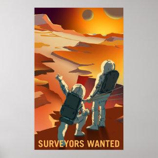 火星の募集-検査官はポスターがほしいと思いました ポスター